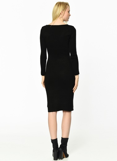 Uzun Kollu Kalem Elbise-Fashion Friends